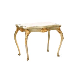 Louis XV Painted & Parcel Gilt Side Table