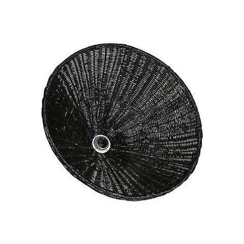 Image of Black Wicker Hanging Pendant Lamp