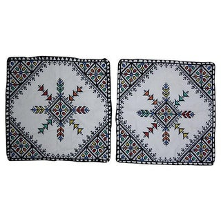 Moroccan Embroidered Shams - Pair