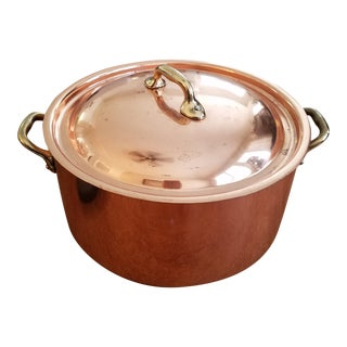 5 3/4 Qt.Williams-Sonoma Copper Pasta Pot With Lid