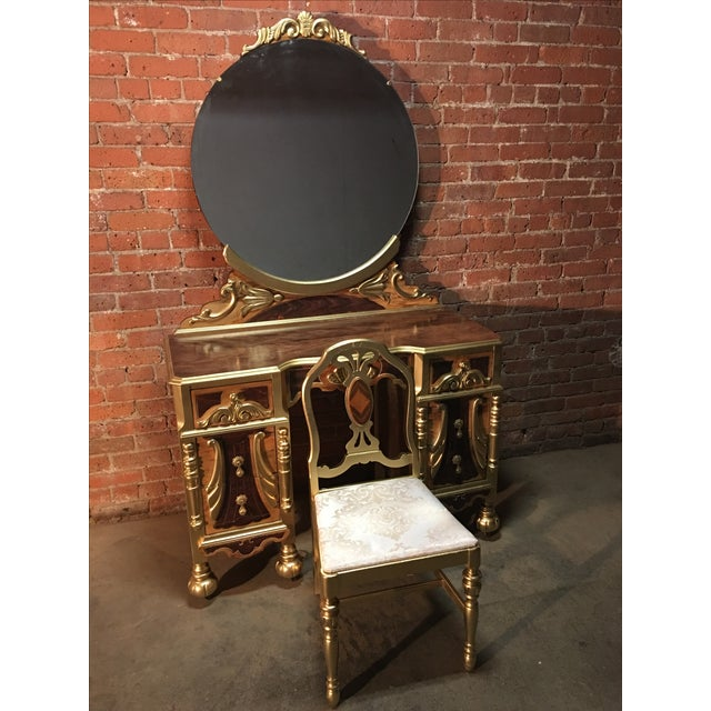 1920s Art Deco Vanity Table with Seat - Image 10 of 10