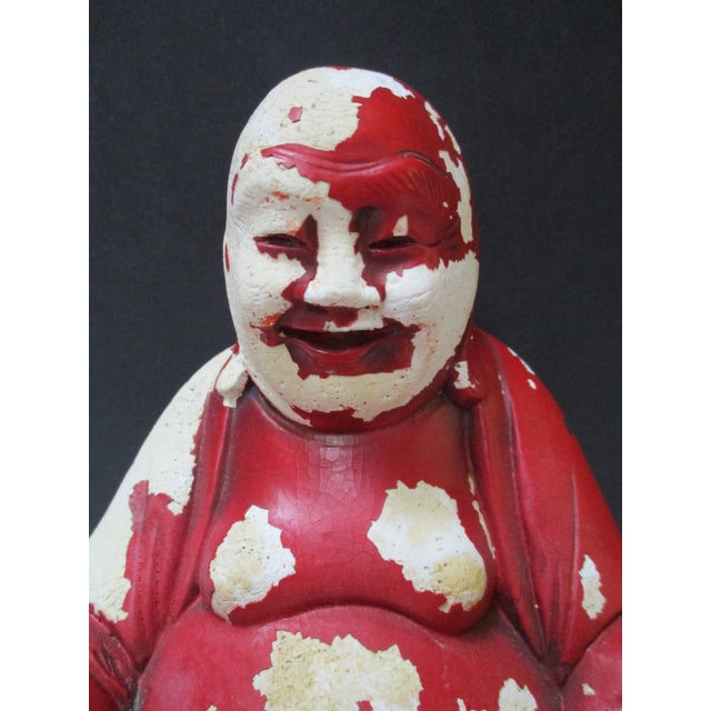 Vintage Red Happy Buddha - Image 5 of 10