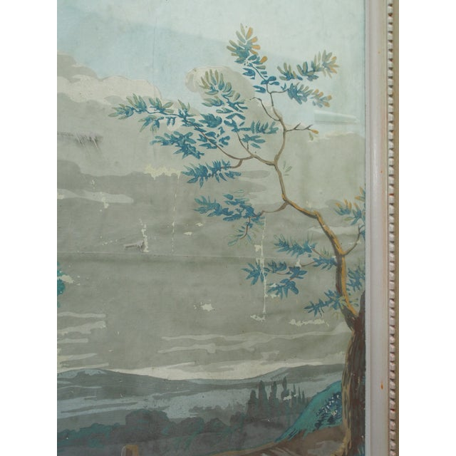 """Large Early 19th c. Gouache Painting, """"By the Water Trough"""" - Image 7 of 8"""