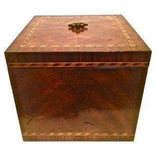 Flam Mahogany & Barber Pole Banded Box