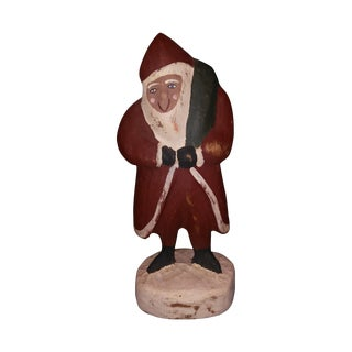 R. Connolly Signed 1989 Painted Wood Santa
