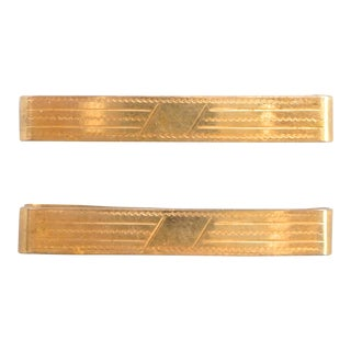 Victorian Antique Gold-Filled Clips - a Pair