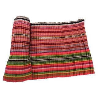 Striped Homespun Linen Fabric - 3.3 Yards
