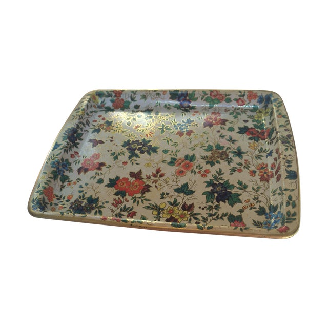 Dasher Decorated Ware Floral Tray - Image 1 of 8