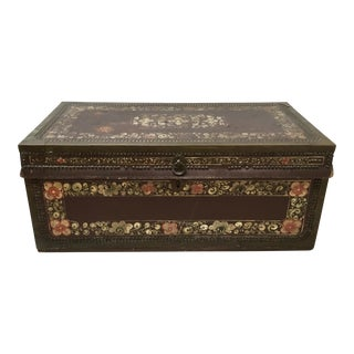 Antique Early 19th C. Chinese Camphor Wood Trunk