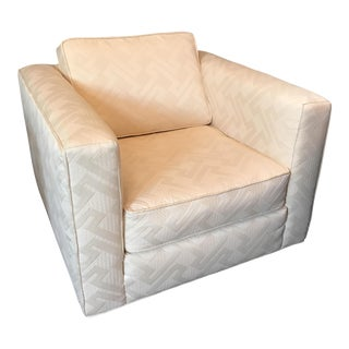 Geometric Cream Colored Club Chair