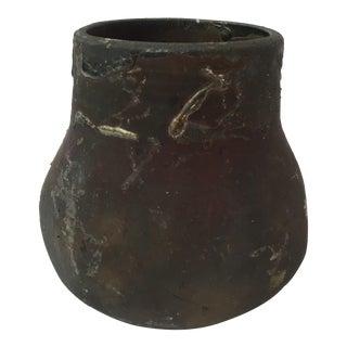 Brown Raku Glazed Vase