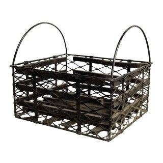 Vintage Black Metal Basket