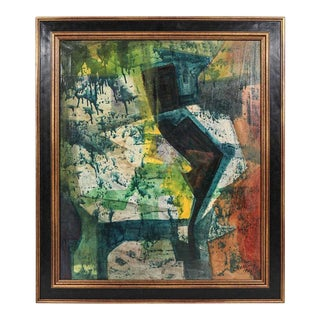 Original Mid-Century Abstract Painting