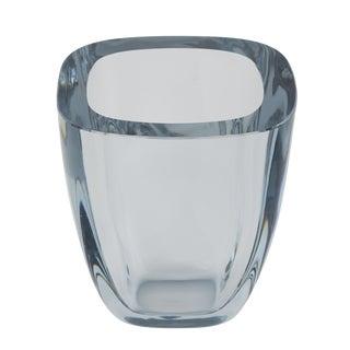 LARGE RECTANGULAR STROMBERGSHYTTAN GLASS VASE, CIRCA 1950S