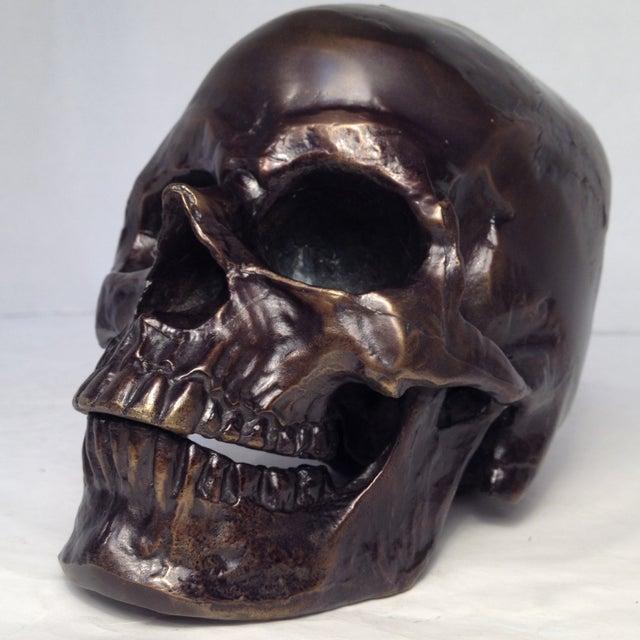 Metal Skull Sculpture - Image 2 of 7