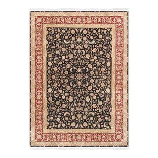 """Pasargad Tabriz Silk & Wool Area Rug- 9' 0"""" X 12' 0"""""""