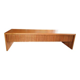 Mid-Century Japanese Oak Solid Wood Coffee Table TV Media Cabinet Console Sideboard