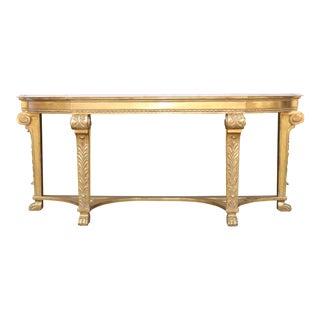 Italian Gold Leaf Console Table