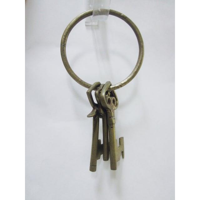 Oversize Hollywood Glam Large Brass Skeleton KeyS Ring Set - Image 2 of 9