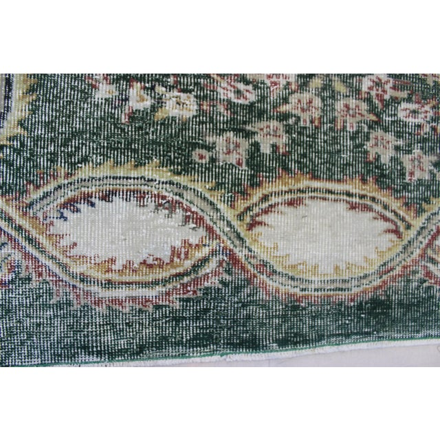 Image of Vintage Hand Knotted Overdyed Turki̇sh Rug - 6′4″ × 9′5″