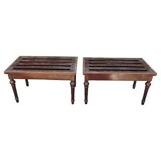 Vintage Hampton & Son Benches - A Pair