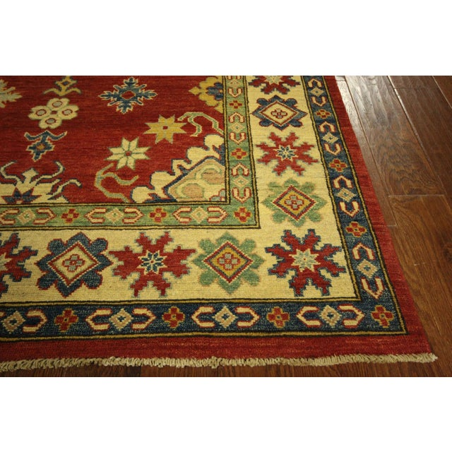 Super Kazak Hand Knotted Rug Red - 9' x 12' - Image 6 of 11