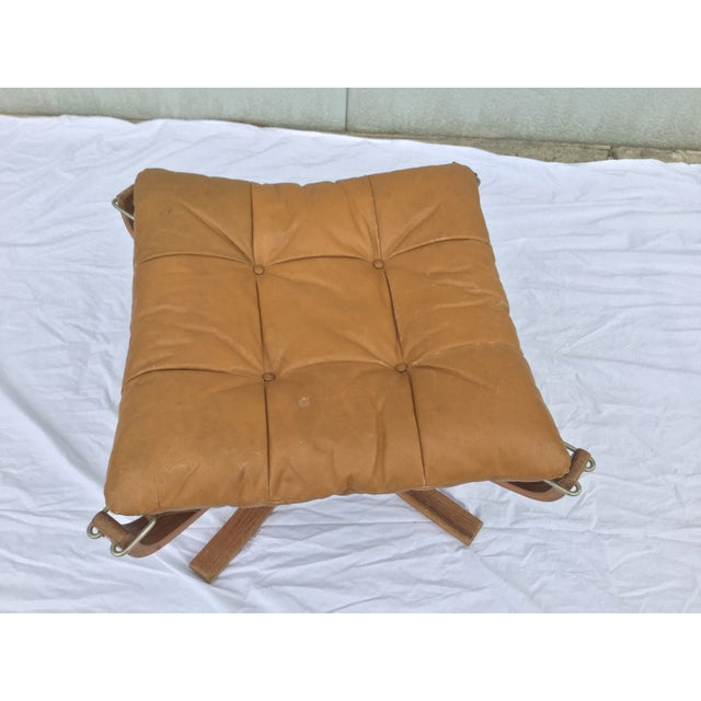 1960's Stanform Modernist Leather Ottoman - Image 4 of 9