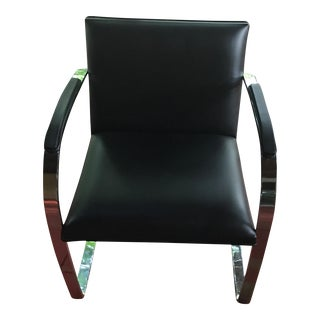 Knoll Brno Mid-Century Leather Side Chair