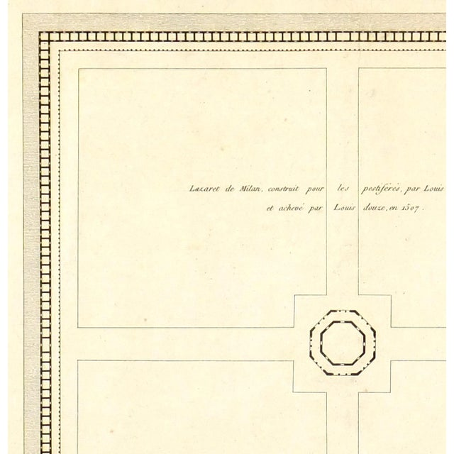 Antique Architectural Print Engraving, 1800 - Image 2 of 3