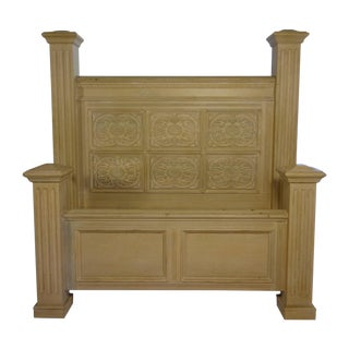 Hand Carved Queen Sized Bedframe