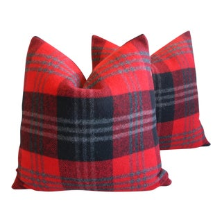 Scottish Tartan Plaid Wool Pillows - Pair