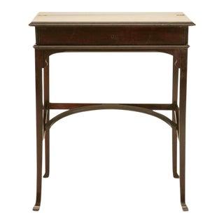 C.1890 Antique Austrian Mahogany Flip-Top Campaign Desk