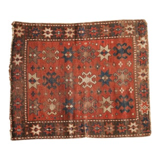 "Antique Kazak Square Rug - 2'10"" x 3'4"""