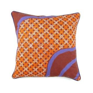 Cap Batik Rustic Orange Bata Pillow