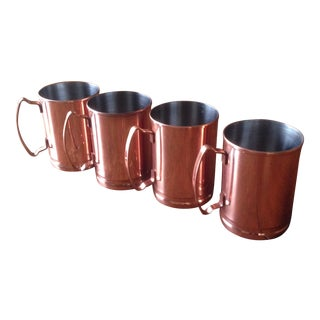 Copper Plated Moscow Mule Mugs - set of 4