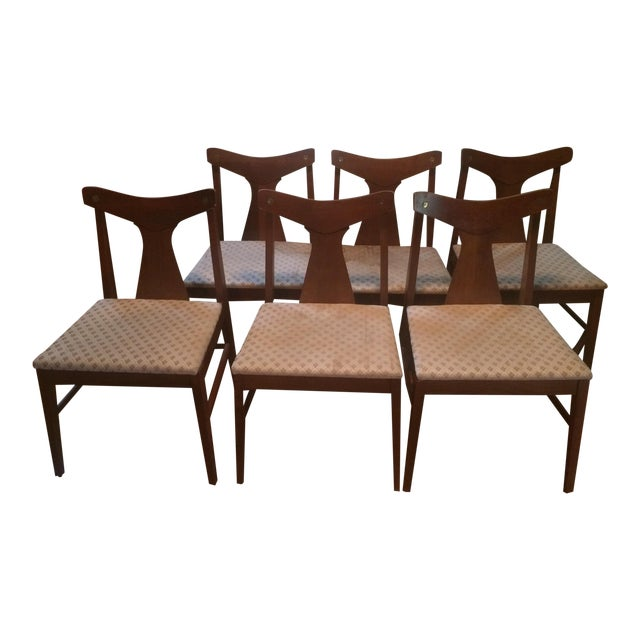 Danish Modern Dining Table With Glass Protector & Chairs - Image 2 of 5