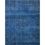 "Image of Blue Vintage Overdyed Rug - 9'7"" X 12'7"""