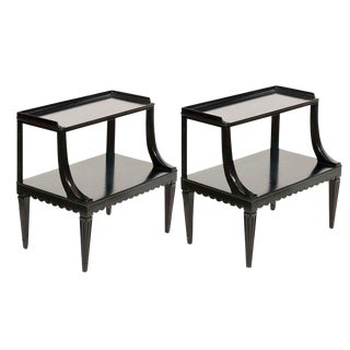 Edward Wormley Two Tier End Tables - A Pair