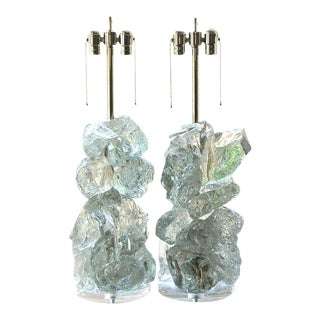 Rock Candy Glass Lamps in Arctic Ice