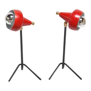 Pair of Petite Italian Table Lamps or Wall Sconces