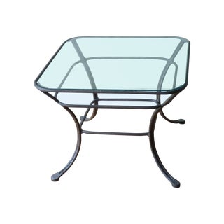Square Iron & Glass Table