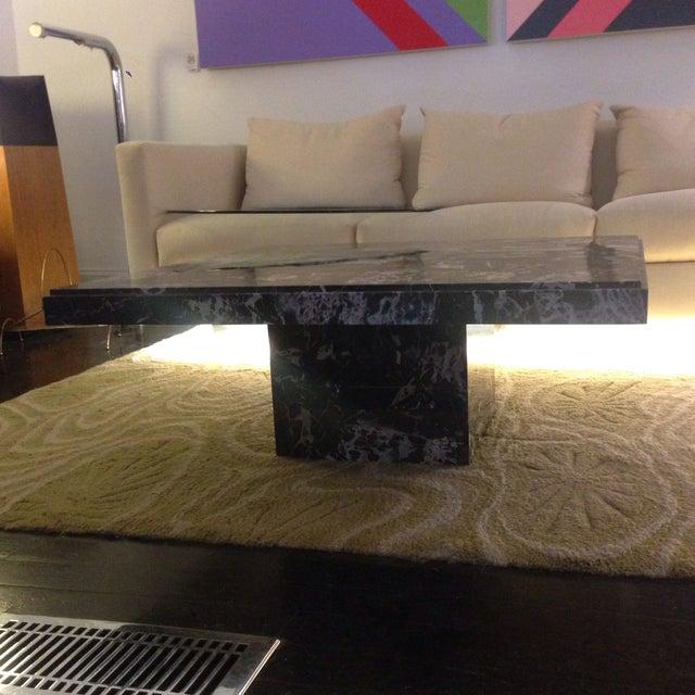 Italian Black Marble Coffee Table - Image 4 of 8