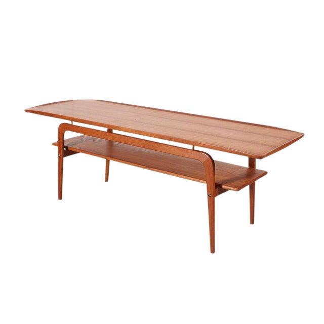 Danish Coffee Table with Shelf - Image 1 of 6