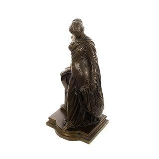 James Pradier -Sapho a la Colonne-19th century Female musician Bronze sculpture