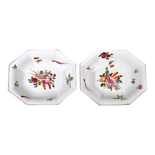 Chelsea Porcelain Dishes With Unusual Vegetable Decoration