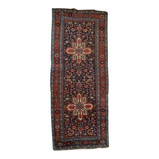 """Antique Persian Heriz Runner - 3'7"""" x 8'10"""""""