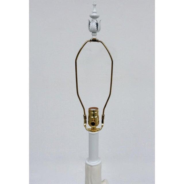 Mid-Century Porcelain Faux-Bois Floor Lamp - Image 10 of 11