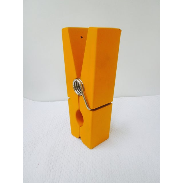 Oversize Pop Art Orange Wooden Clothes Pin - Image 2 of 7