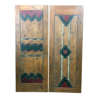 Santa Fe Southwestern Style Doors - A Pair