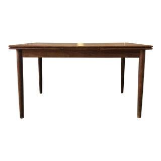 Vintage Danish Teak Expandible Dining Table